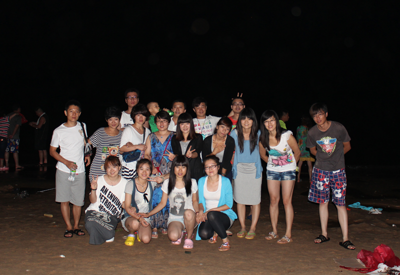 2012年大连西中岛夜晚海边